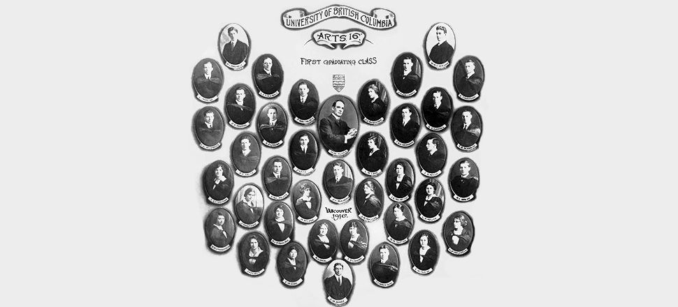 UBC Arts 1916, first graduating class